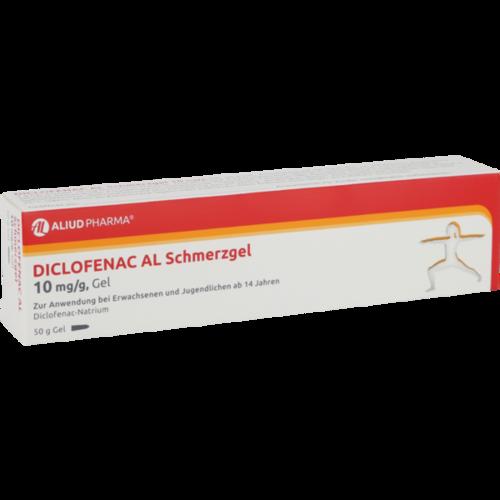 Verpackungsbild(Packshot) von DICLOFENAC AL Schmerzgel 10 mg/g