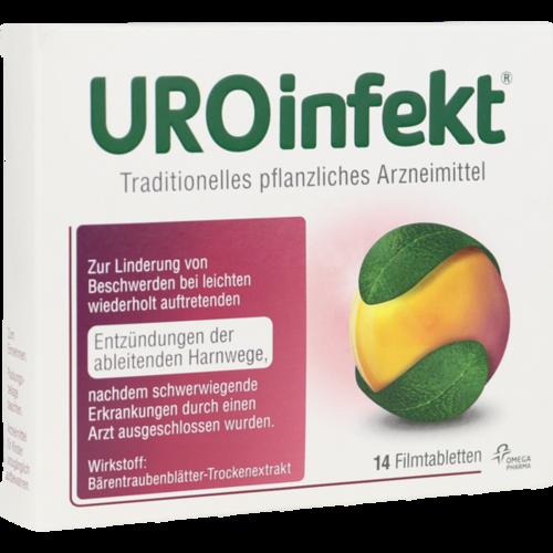 Verpackungsbild(Packshot) von UROINFEKT 864 mg Filmtabletten