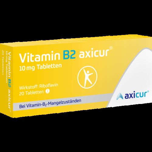 Verpackungsbild(Packshot) von VITAMIN B2 AXICUR 10 mg Tabletten