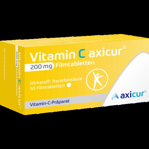 Verpackungsbild(Packshot) von VITAMIN C AXICUR 200 mg Filmtabletten