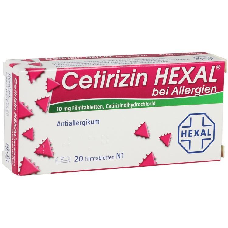CETIRIZIN HEXAL Filmtabletten bei Allergien 20 St
