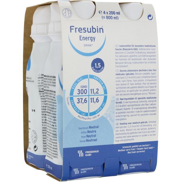 FRESUBIN ENERGY DRINK Neutral Trinkflasche 4X200 ml