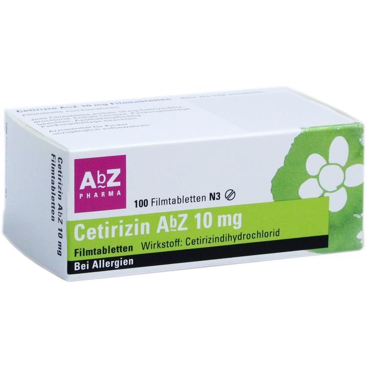 CETIRIZIN AbZ 10 mg Filmtabletten 100 St