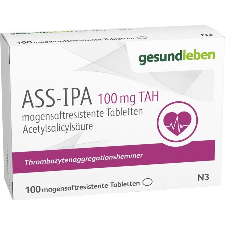 ASS-IPA 100 mg TAH magensaftresistente Tabletten 100 St